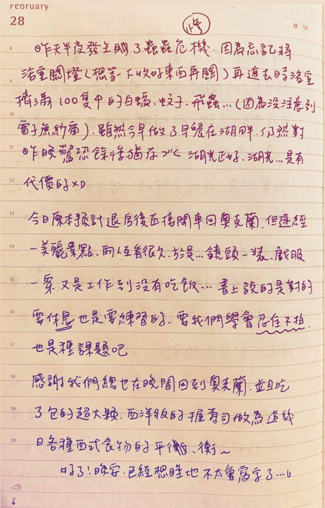 手寫日記 2月 原子邦妮 2/28