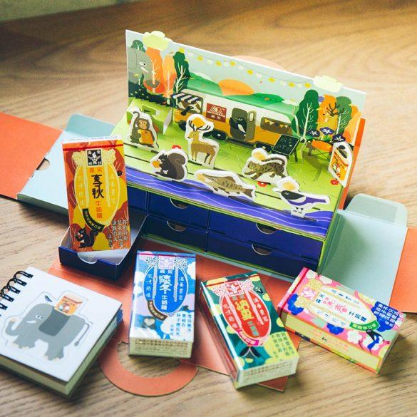 六個抽屜的桌上迷你文具收藏盒與牛奶糖零食櫃